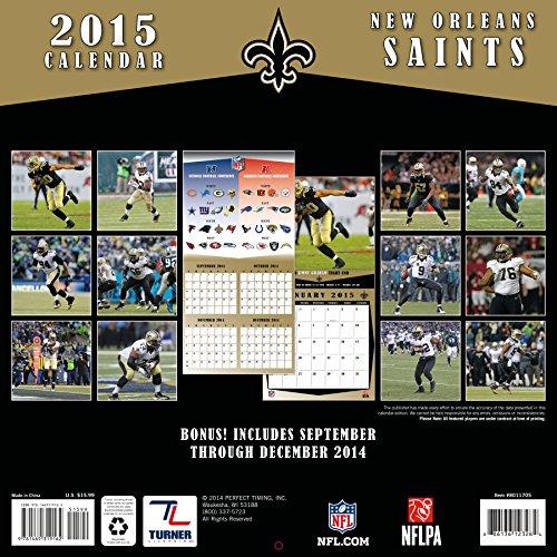 NFL Kalender Wandkalender 2015 30x60cm New Orleans Saints - 3