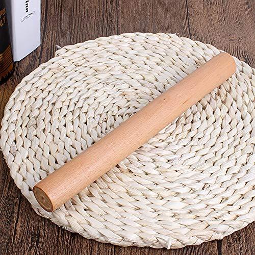 Potatogirl die Clearance glatt einfarbig schön und haltbar prägung Nudelholz aus Holz geschnitzt, Fondant, Kuchen - Kruste, Cookie - teig küche Tool (2.5x25cm)