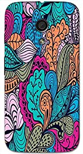 Timpax Protective Hard Back Case Cover With access to all controls and ports Printed Design : A multicolour designers pattern.100% Compatible with Motorola Moto-G-2 ( 2nd Gen )