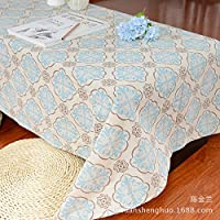 MEICHEN Stampa alta qualità tè verde tavolo salotto il cotone tessuto tovaglia tovaglia di panno blu e bianco classico tavolo , 60*60cm (2)