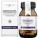 OPC Kapseln Hochdosiert - Premium OPC Aus Frankreich - 60 Vegane Kapseln - Ohne Magnesiumstearat - Traubenkernextrakt - Hochdosiert 300 mg Reines OPC pro Kapsel - 2 Monatsvorrat - Made in Germany