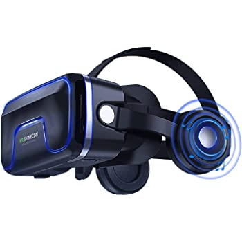 VR Casque de réalité virtuelle 3D VR Lunettes pour Jeux et Films Virtuelle  Lunettes Casque avec Autres Smartphones sous Android 4,7 à 6,0 c372d4d12cd0
