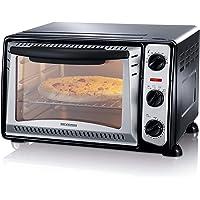SEVERIN Mini-Four 20 L, Inclus : Grille et Lèche frites, Minuteur 60 min, 1 500 W, Noir/Inox, TO 2034