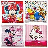Kinder Baby Dekokissen Kuschelkissen Kissen Winnie Pooh Minnie Mouse Hello kitty 40 x 40 cm (Minnie Mouse - Rot)