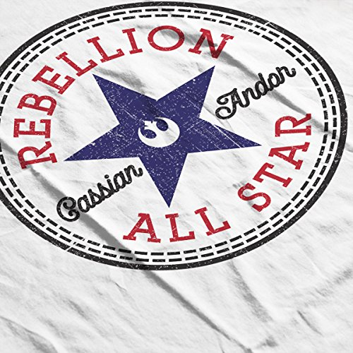 Star Wars Rogue One Rebellion Cassian Converse Logo Women's Vest white