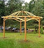 G&C Valencia – Runde Holzpergola mit gewölbtem Dach – Durchmesser 482 cm, Höhe 338 cm