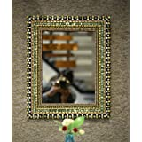 Venetian Design Mosaic Design Multicolor Wall Mirror For Living Room And Bathroom Size 21x17 Inches