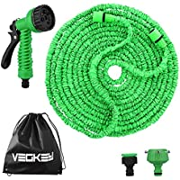 Expandable Garden Water Hose Pipe,100Ft 30M flexible hose pipe with 8 function spray gun 3 Times magic lightweight hose pipe for washing car/cleaning home