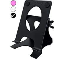 Crinds® Pure Metal Heavy & Sturdy Adjustable Mobile Cell Phone Stand Holder for Table Desk with Big Back Support to Hold…