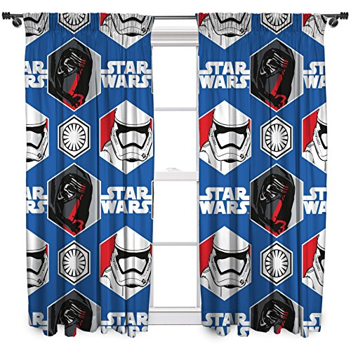 Character World 182,88 cm Star Wars episodio 7 es probable que cortinas, Multi-color
