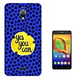 "003743 - Yes You Can Quote Design alcatel A2 XL 6"" Fashion Trend Silikon Hülle Schutzhülle Schutzcase Gel Silicone Hülle"
