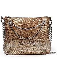283facdec Alea Spero, bolso mujer piel natural, Neva serpiente, fabricado en España