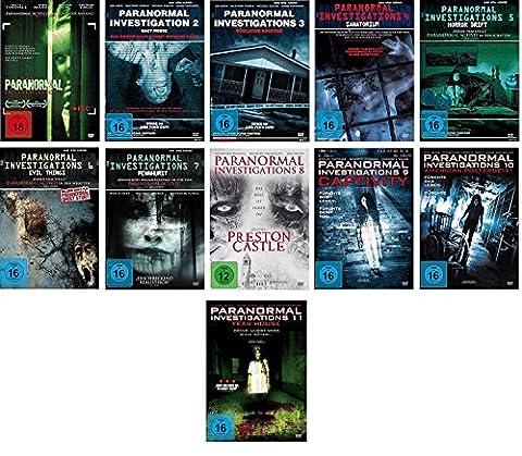 Paranormal Investigations 1-11 DVD Set, deutsch, 1,2,3,4,5,6,7,8,9,10,11 uncut, I-X, inkl. Fear