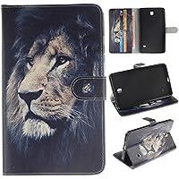 Skytar Tab 4 7.0 Funda,Cover para Tablet Samsung Tab4 7'',Folio Case Cover Stand Protectora de PU Cuero Funda para Samsung Galaxy Tab 4 7.0 Pulgadas (SM-T230 / T231 / T235) Tablet,*León valiente