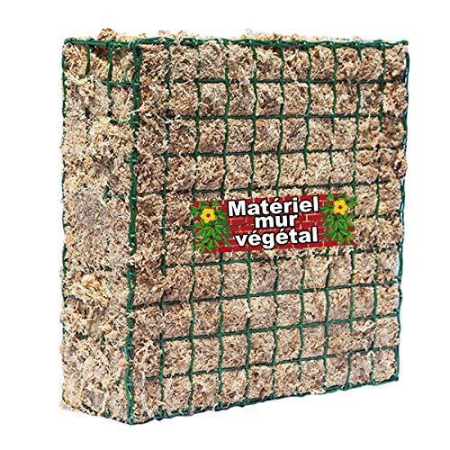 Matériel Mur Végétal Module grillagé 36x36x16cm avec 2KG de Sphaigne de Madagasca