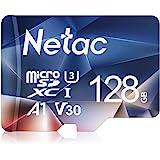 Netac 128G Scheda Micro SD, Scheda di Memoria A1, U3, C10, V30, 4K, 667X, UHS-I velocità Fino a 100/30 MB/Sec(R/W) Micro SD C