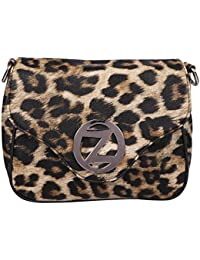 Osaiz Brown Printed PU Sling Shoulder Bag For Women , Girls And Ladies For Every Ocassion.