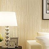 """Blooming Wall Faux Gras Strukturtapete, Papier für Wohnzimmer Schlafzimmer, 20,8in32.8FT = 57FT², beige, 20.5"""" x 396""""=57 Sq. Ft/Roll"""