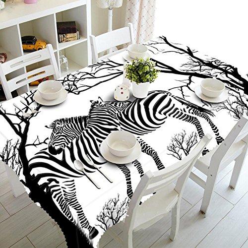 HUANZI Tischdecke Ostern frühling Tischdecke 3D Zebra Digital Printing StaubgeschüTzte Tasteless Rectangular, Oblong 80cm*130cm