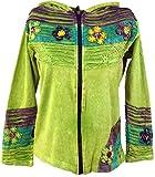 Guru-Shop Goa Patchwork Jacke Lemon, Damen, Grün, Baumwolle, Size:S/M (36), Boho Jacken, Westen Alternative Bekleidung