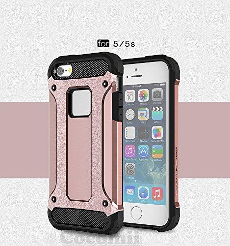 Cocomii Commando Armor iPhone SE/5S/5C/5 Hülle [Strapazierfähig] Taktisch Griff Staubgeschützt Stoßfest Gehäuse [Militärisch Verteidiger] Case Schutzhülle for Apple iPhone SE/5S/5C/5 (C.Rose Gold)