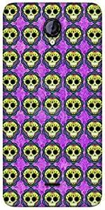 Snoogg Skull Purple Pattern Designer Protective Back Case Cover For Micromax ...