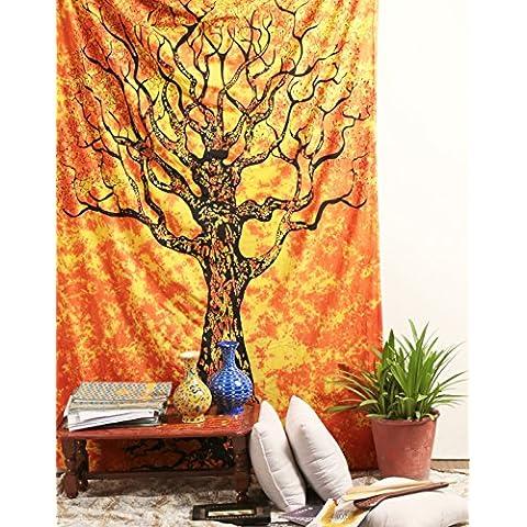 Árbol de la vida de la tapicería, tapicerías Hippie, Bohemia Boho cobertor, hoja de la tapicería del dormitorio, Tapices de pared, colgante de pared de la tapicería, Por
