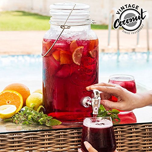 Dispensador de Bebidas Vintage Ice Cold Drink