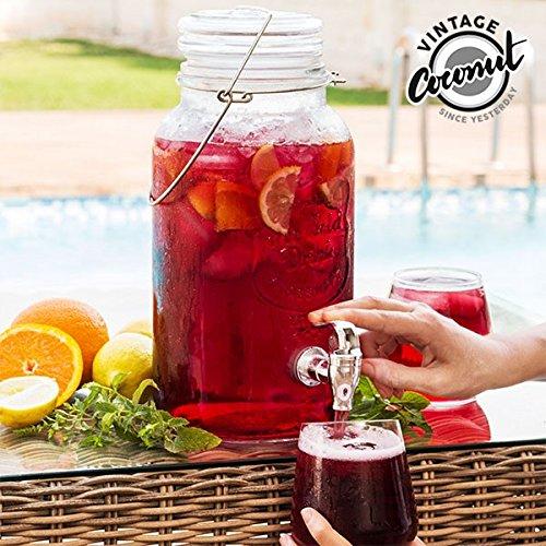 EH Saptap Drank Dispenser Glas 5.5 Liter