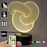 Lampees™ 3D Illusion LED Lamp Abstract02 with 7 colors change and Flashing Effect also comes with remote and USB cable can also use with AA size batteries