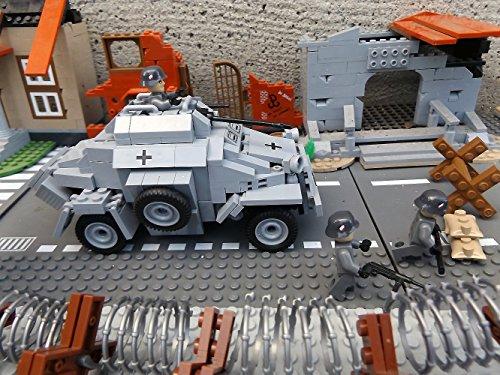 Cobi 2366 Sonderedition – Panzerspähwagen Sd.Kfz. 222 inkl. custom Wehrmacht Soldat aus original Lego© Teilen - 3