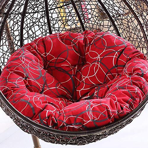 Runde Patio Kissen (SXFYHXY Schwingen Sie Stuhl-Kissen, runde Patio-Garten-Flechtweide-hängendes Ei-Rattan-Stuhl-Hängematten-Auflage Innen oder im Freien entfernbar und waschbar-ohne Standplatz,Color,105x105cm)