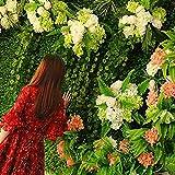 WENZHEjiahua Efeu Künstlich Hängende Rebe Plants Wanddekoration Grüne Wand Einfach Zu Installieren, 9 Stile, 1㎡ (Farbe : H, größe : 2 pieces)