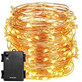 #5: Beauty Lights 5 Meters 50 LED Warm White Copper Fairy Lights Battery Operated With Designed IP65 Waterproof Battery Box | Decorative Lights For Xmas