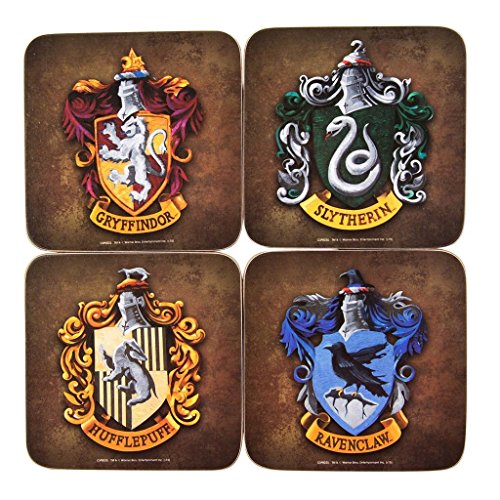 GB Eye LTD, Harry Potter, Crests, Set di 4 sottobicchieri