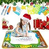 Towinle Wasser Zeichnen Matte 100 x 70cm Aqua Drawing Painting Mat Wiederverwendbare Wasser Malbrett Matte für Kinder Geschenk zum Weihnachten