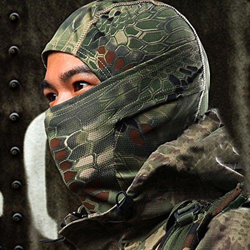 AmyGline 1 STÜCK Tarnung Armee Radfahren Motorrad Cap Balaclava Hats Vollgesichtsmaske