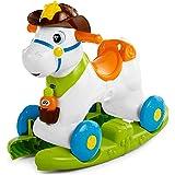 Chicco Cavallo a Dondolo per Bambini Baby Rodeo, Gioco Educativo e Interattivo, Cavallo Cavalcabile Bambino con Effetti Sonor