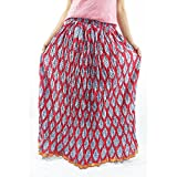 ShopMore Long Skirt(Red_Free-Size)