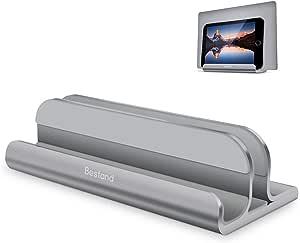 Bestand 2 In 1 Vertikal Laptop Ständer Für Macbook Und Ipad Iphone Verstellbarer Laptop Ständer Für Laptops Von Verschiedener Dicke Grau Küche Haushalt