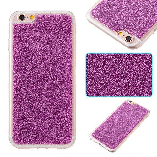 EKINHUI Case Cover Ultra Thin Slim Weiche Flexible Silikon TPU Gel Cover Case [Anti-Kratzer] Bling Glitter 360 ° Full Coverage Back Cover [Shockproof] für iPhone 6 & 6s ( Color : Red ) Purple