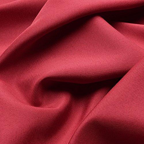 Beautissu Blickdichter Ösen-Vorhang Amelie – 140×175 cm Rot Uni – Dekorative Gardine Ösenschal Fenster-Schal - 3