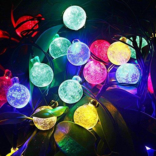 Gracetop 5m luce della stringa 30LEDs,luce della stringa solare,stringa di lampada per la festa di Natale, Halloween, casa, giardino, alberi, festivo parti, decorazione esterna.--Waterpro, Bright [Classe di efficienza energetica A] [Classe di efficienza energetica A+]