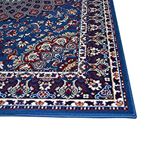 WEBALFOMBRAS Alfombra Barata Estilo Persa Alfombra Clasica Azul Royal Shiraz 2082-LIGHT Blue 200x300