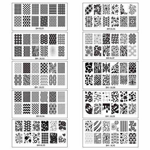 bundle-monster-10pc-extra-large-full-nail-art-retangular-shape-xl-stamping-plates-set-1-1-10