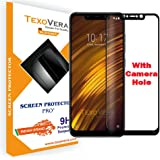 ShopeeQ 9H Hardness Screen Protector for Redmi Poco F1 Tempered Glass 9H Hardness with Perfect Camera Cut (Camera Hole)