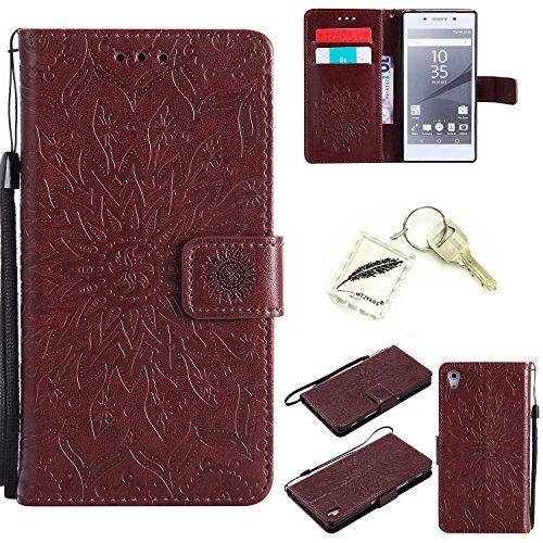 Preisvergleich Produktbild Silikonsoftshell TPU Hülle für Sony Xperia Z5 (5,2 Zoll (13,2 cm) Tasche Schutz Hülle Case Cover Etui Strass Schutz schutzhülle Bumper Schale Silicone case+Exquisite key chain X1) #KD (1)