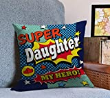 Tied Ribbons daughter birthday gift Printed Cushion(12 Inch X 12 Inch with Filler)