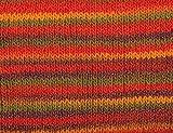 Creative Bonbon Wolle 100 g = 100 m Lauflänge / Knäuel, 53% Schurwolle/47% Polyacryl, Garn zum Stricken & Häkeln Multi Mandarine