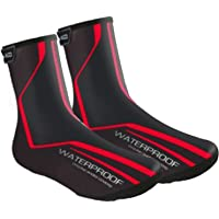 Lixada Cycling Overshoes,MTB Mountain Bike Bicycle Warm Shoe Covers Waterproof Windproof Rain Snow Boot Protector…